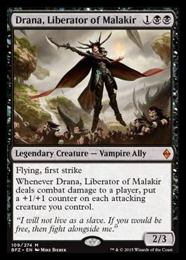 Drana, Liberator of Malakir | Battle for Zendikar MTG ... Planeswalker Ally Deck List