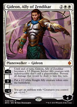 Gideon, Ally of Zendikar | Battle for Zendikar MTG Visual ... Planeswalker Ally Deck List