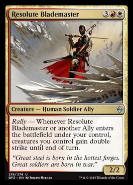 Resolute Blademaster Battle For Zendikar Mtg Visual Spoiler