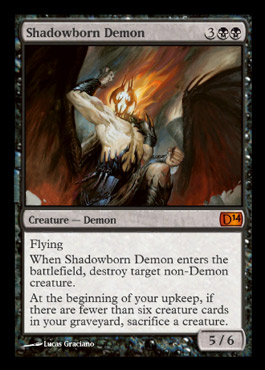 shadowborn demon duels of the planeswalker 2014 M14