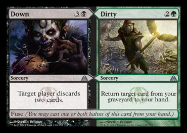 down dirty split card