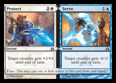 protect serve split card