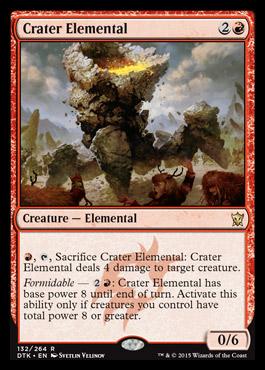 Crater Elemental Dragons Tarkir Visual Spoiler