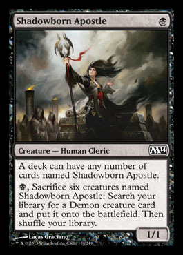 shadowborn apostle duels of the planeswalker 2014 M14