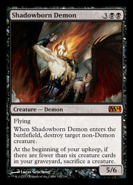shadowborn demon m14 spoiler