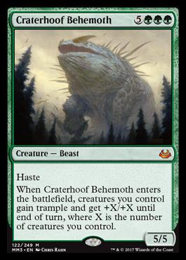 Modern masters 2017 Craterhoofbehemoth