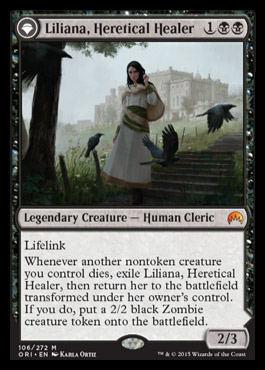 Liliana, Heretical Healer - Magic Origins Spoiler
