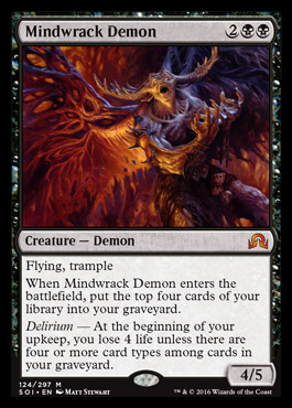 Mindwrack Demon | SHADOWS OVER INNISTRAD Visual Spoiler