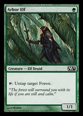 Elvish Mystic Mtg Visual Spoiler